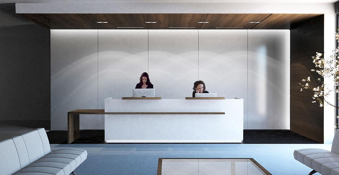 Accueil bureau réglable en hauteur assis debout